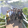 One of our recent Brazil groups at Iguazu Falls, with guides Rose Ann Rowlett (right) and Marcelo Padua (kneeling). (Photo by participant Fred Dalbey)