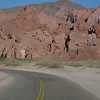 Continuing on the geology theme, here's the highway entering the wonderful scenery of famed Quebrada de Cafayate in Salta Province. (Photo by guide Peter Burke)