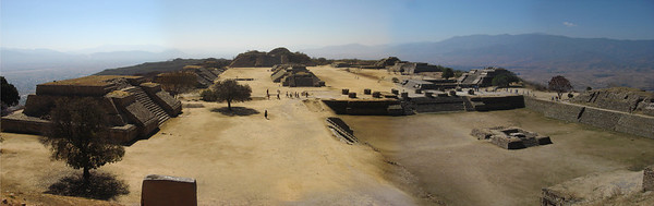 "Oaxaca is of course famed for its archaeological riches, and several sites are part of our itinerary.  Here, a panorama of the ruins of Monte Alban. <div id=""caption_tourlink"" align=""right"">[photo © guide Dan Lane]</div>"