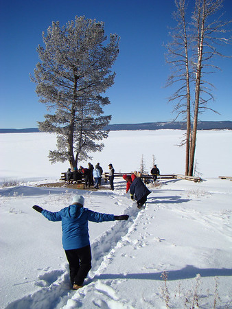 "A great place for a lunch picnic around Yellowstone Lake...just watch your step in the snow! <div id=""caption_tourlink"" align=""right"">[photo © Jan Pierson]</div>"