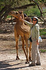 """Ruth, one of our Oman & the UAE participants, makes a friend. <div id=""""caption_tourlink"""" align=""""right"""">[photo © guide George Armistead]</div>"""