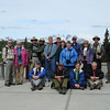 """One of our groups pauses for a pose on their way north from Anchorage to Denali National Park.<div id=""""caption_tourlink"""" align=""""right"""">Link to: <a id=""""caption_tourlink"""" href=""""http://www.fieldguides.com/alaska.htm"""" target=""""_blank"""">ALASKA</a><br>[photo © Chris Benesh]</div>"""