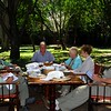 """Checklist session, Africa style, on our Kenya tour, with Terry Stevenson at the head of the table. <div id=""""caption_tourlink"""" align=""""right""""> [Photo © participant Daphne Gemmill]</div>"""