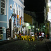 """An evening view in the city of Salvador, the first colonial capital of Brazil located on the coast of the northeastern state of Bahia.  Salvador is well known for its lovely old city, its great regional cuisine, and its music and celebration of <em>carnaval</em> -- both of which have a huge influence on this celebration across the rest of Brazil.<div id=""""caption_tourlink"""" align=""""right"""">[photo © participant Bruce Sorrie]</div>"""