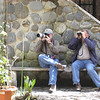 "A relaxing moment in the gardens at Guango Lodge to catch a photo or simply a great look.  Guango is located about half way betwen Quito and San Isidro, and its grounds can be alive not only with a great variety of hummingbirds coming to its productive feeders, but also with a varied mixed flock of Andean birds that regularly passes through. [Photo by participant Susan Gilliland]<div id=""caption_tourlink"" align=""right""><a id=""caption_tourlink"" href=""http://www.fieldguides.com/tours.html?area=tour&code=hec"" target=""_blank"">More about this tour...</a></div>"