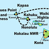 """Time to change venues: our next island destination is the Hawaiian archipelago -- the most isolated island group in the world! As the map shows, our recent tour, guided by George Armistead and Rose Ann Rowlett, hit the """"Big Island"""" of Hawaii as well as Oahu and Kauai."""