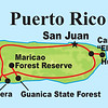 Here's a map of our route around the island, hitting all the highlights. Puerto Rico is the smallest of the four islands comprising the Greater Antilles.