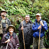 """Intrepid birders in the Alakai Wilderness -- yes, it can be a little misty and damp! <div id=""""caption_tourlink"""" align=""""right""""> [Photo © guide Rose Ann Rowlett]</div>"""