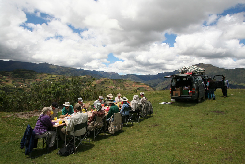 """...and a lovely setting for an outdoor lunch at Kuelap.<div id=""""caption_tourlink"""" align=""""right""""> [Photo © guide Richard Webster]</div>"""