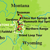 While we're visiting cool climes, let's move back north of the Equator, to one of our most unusual and ever-popular trips: Yellowstone in Winter. Here's the route we follow.