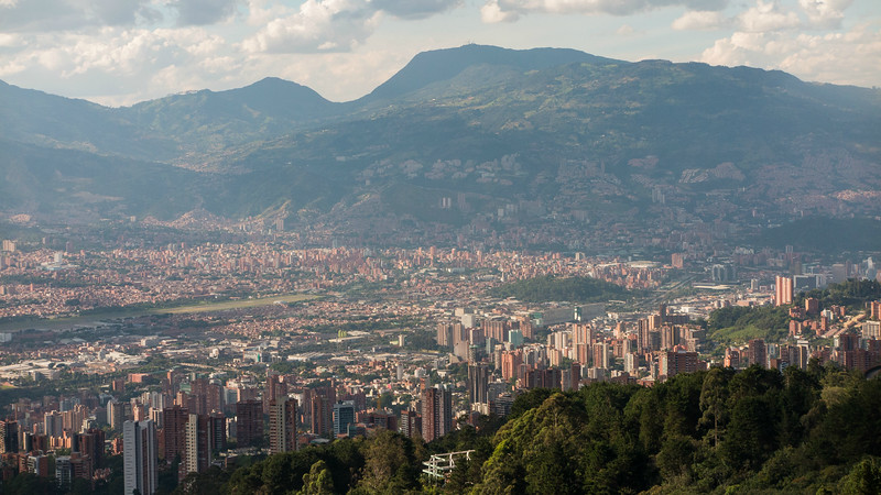 The scope and beauty of the city of Medellin is one of the great, pleasant surprises of the tour. Photo by guide Richard Webster.