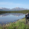 "Chris and Elaine searching for avian life along the Denali Highway—what an incredibly beautiful place to go birding!<div id=""caption_tourlink"" align=""right""> [Photo © George Armistead]</div>"