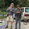 Guide Jay VanderGaast (l.) and local guide Uthai Treesucon enjoying a field meal and perhaps planning their next move.  Photo by participant Greg Vassilopoulos.
