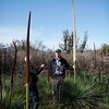 "Guide Chris Benesh and one of our group's participants with grasstrees, slow-growing perennials native to Australia that can live to ripe old ages of several hundred years! <div id=""caption_tourlink"" align=""right""> [Photo © participant Marshall Dahl]</div>"