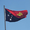 "The PNG flag gives birders an indication of what's to come...<div id=""caption_tourlink"" align=""right""> [Photo © guide Phil Gregory]</div>"