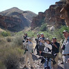 """Blue Creek trail birding, Big Bend, with guide John Coons at right <div id=""""caption_tourlink"""" align=""""right""""> [Photo © participant Marshall Dahl]</div>"""