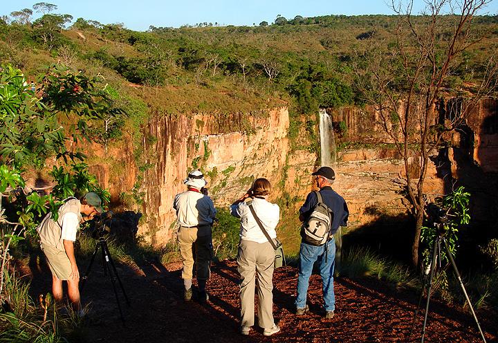 "Bridal Veil Falls at Chapada dos Guimaraes<div id=""caption_tourlink"" align=""right""><br>[photo © Bret Whitney]</div>"