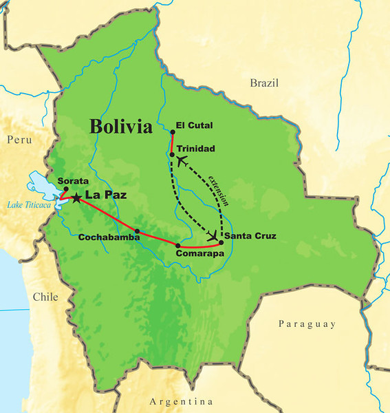 Guides Dan Lane and Jay VanderGaast co-led our September 2011 Bolivia's Avian Riches tour, which began with an optional extension to the Beni region at Trinidad and El Cutal, then continued on the main tour's run from Santa Cruz to La Paz.