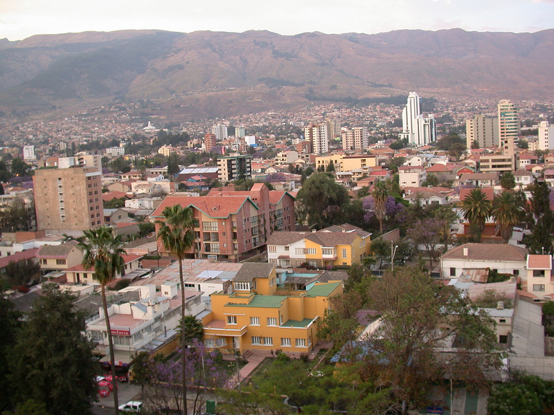 "We pass through several of Bolivia's major cities along our route, including Cochabamba.<div id=""caption_tourlink"" align=""right""> [photo © participant Bob Brandriff]</div>"
