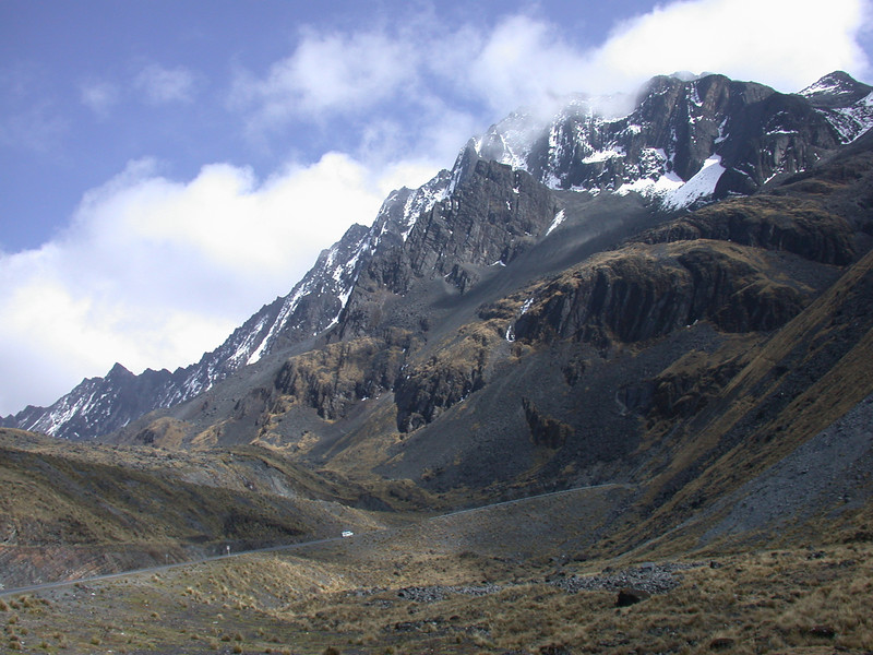 "Spectacular Andean scenery, such as this view of mountain crags near La Cumbre, is standard issue on much of the tour.<div id=""caption_tourlink"" align=""right""> [photo © participant Bob Brandriff]</div>"
