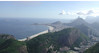 """Here's a look back the other direction, from the top of the Sugarloaf toward Copacabana beach and the various hills that form such a dramatic backdrop for the city of Rio de Janeiro.<div id=""""caption_tourlink"""" align=""""right""""> [photo © guide Jan Pierson]</div>"""