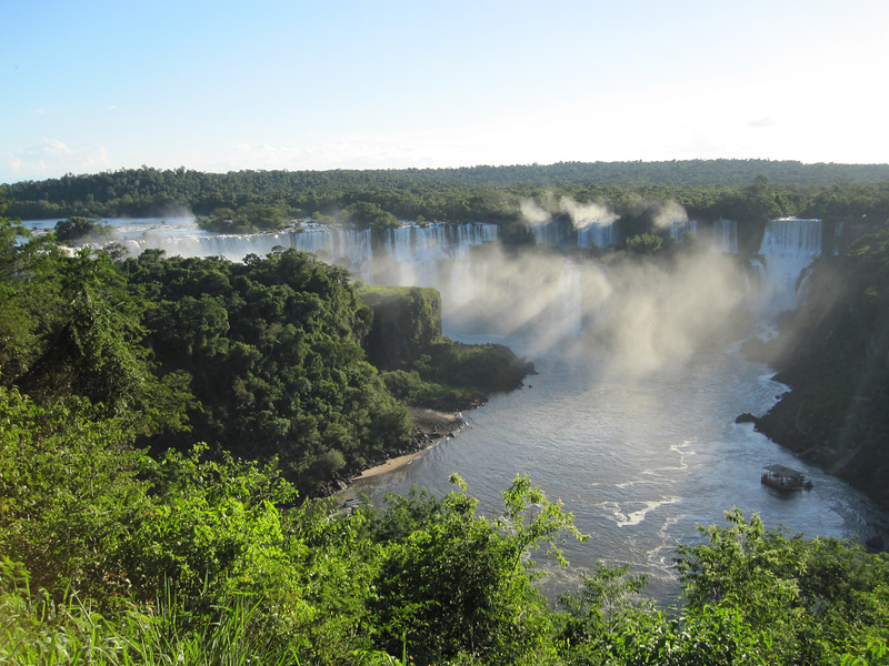 "How does one decide where to start birding in a country as immense and diverse as Brazil? Our ""Brazil Nutshell"" tour is a great way to begin, giving participants a taste of several of Brazil's major avifaunal areas, including the southeast (at Intervales), the Pantanal, and spectacular Iguazu Falls, shown here. (Photo by participant Max Rodel)"