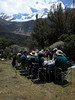 "Another Huascaran lunch, this one under Mt. Chacrarju. <div id=""caption_tourlink"" align=""right"">[photo © guide Richard Webster]</div>"