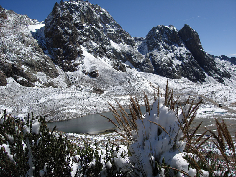 """From the Ticlio Pass, 15,700 feet, we head west back toward Lima. It's all downhill from here. <div id=""""caption_tourlink"""" align=""""right"""">[photo © guide Rose Ann Rowlett]</div>"""
