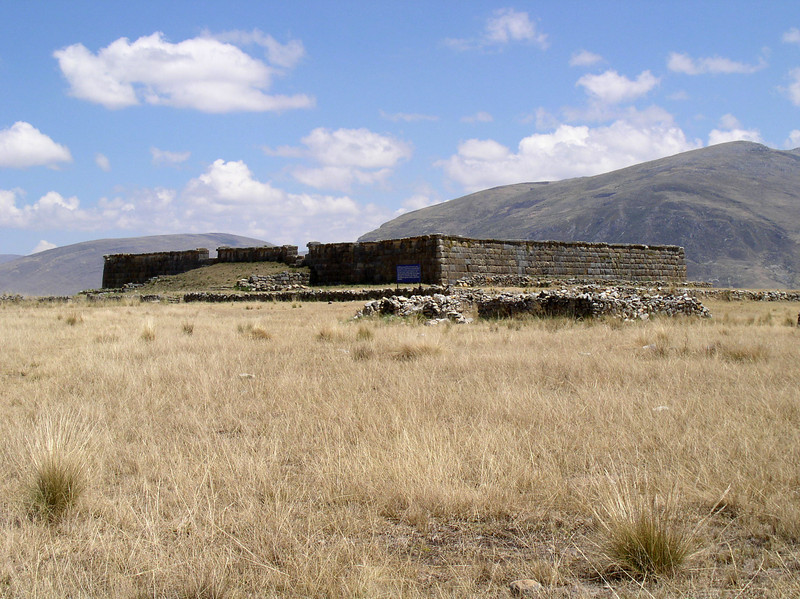 "We punctuate our long drive to Huanuco with a visit to the Inca ruins of Huanuco Viejo, a.k.a. Huanuco Pampa. Situated on a great plain at 12,000 feet, the site is over 2 sq. kms and contains the remains of over 3500 structures.  <div id=""caption_tourlink"" align=""right"">[photo © guide Rose Ann Rowlett]</div>"