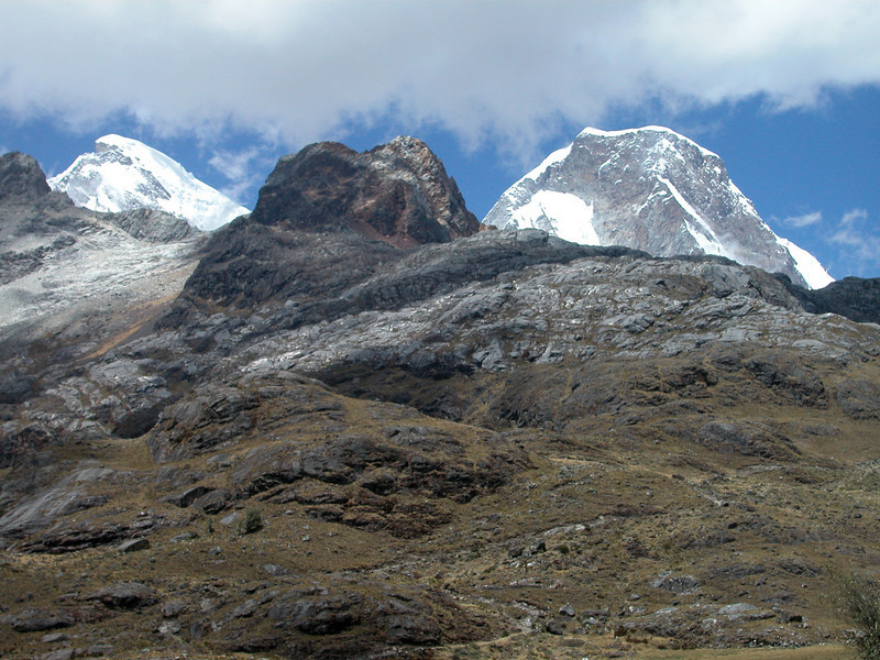 """Huascaran National Park protects almost a million acres of high Andean wilderness, regarded by Peruvians as the most spectacular scenery in their country. <div id=""""caption_tourlink"""" align=""""right"""">[photo © guide Richard Webster]</div>"""