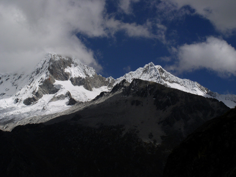 "We leave Huascaran and cross the Cordillera Blanca en route to Huanuco. <div id=""caption_tourlink"" align=""right"">[photo © guide Rose Ann Rowlett]</div>"