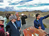 """Our Chile tour is co-led by Ricardo Matus, here explaining to folks how the Torres del Paine were created. Ricardo has lived all is life in Chilean Patagonia, and he is a superb birder and naturalist. He is also a real fun person to travel with! <div id=""""caption_tourlink"""" align=""""right"""">  [photo © guide Alvaro Jaramillo]</div>"""