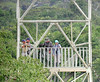 """Sacha metal canopy tower [before canopy walkway was completed] <div id=""""caption_tourlink"""" align=""""right""""> [photo © guide Jan Pierson]</div>"""