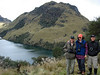 """It can be cold in these high climes, but a short walk over to a páramo lake warms up participants Mike & Marianne Walsh and Ed Hagen. <div id=""""caption_tourlink"""" align=""""right""""> [photo © guide Rose Ann Rowlett]</div>"""