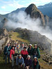 "Machu Picchu makes a dramatic backdrop for a Field Guides group photo.<br><div id=""caption_tourlink"" align=""right""> [photo © participant Mary Jo Mulcahy]</div>"