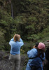 A photo of folks taking photos of a waterfall.  (Photo by guide Dan Lane)
