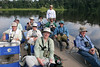 """One of our groups enjoying an Amazonian boat ride <br><div id=""""caption_tourlink"""" align=""""right""""> [photo © participant Paul Thomas]</div>"""