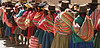 "A colorful line on market day in Paucartambo, potato capital of Peru (and the world) <div id=""caption_tourlink"" align=""right""><br>[photo © participant Francesco Veronesi]</div>"
