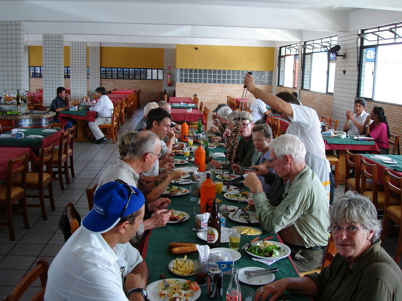 """Group at Churrascaria Aracaju <div id=""""caption_tourlink"""" align=""""right""""> [photo © guide Bret Whitney]</div>"""