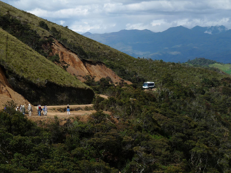 "After continuing our journey up the Rio Utcubamba to Leimebamba, we will have two days to bird the high ridge of Abra Barro Negro, or ""Black Mud Pass.""  <div id=""caption_tourlink"" align=""right""><br>[photo © Rose Ann Rowlett]</div>"