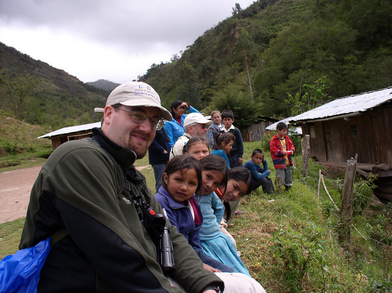 """Guide Dan Lane shares some time with the local kids. <div id=""""caption_tourlink"""" align=""""right""""> [photo © guide Dan Lane]</div>"""