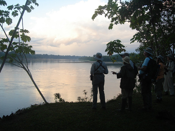 "Early morning along the Rio Madre de Dios, at Reserva Amazonica<div id=""caption_tourlink"" align=""right""><br>[photo © Rose Ann Rowlett]</div>"
