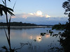 "Sunset along the Rio Tambopata<div id=""caption_tourlink"" align=""right""><br>[photo © Rose Ann Rowlett]</div>"