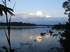 "Sunset along the Rio Tambopata<div id=""caption_tourlink"" align=""right""><br>[photo © Rose Ann Rowlett]</div>"
