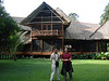 """Our local guides standing in front of the lodge at Reserva Amazonica, luxurious by rainforest standards <div id=""""caption_tourlink"""" align=""""right""""> [photo © guide Rose Ann Rowlett]</div>"""