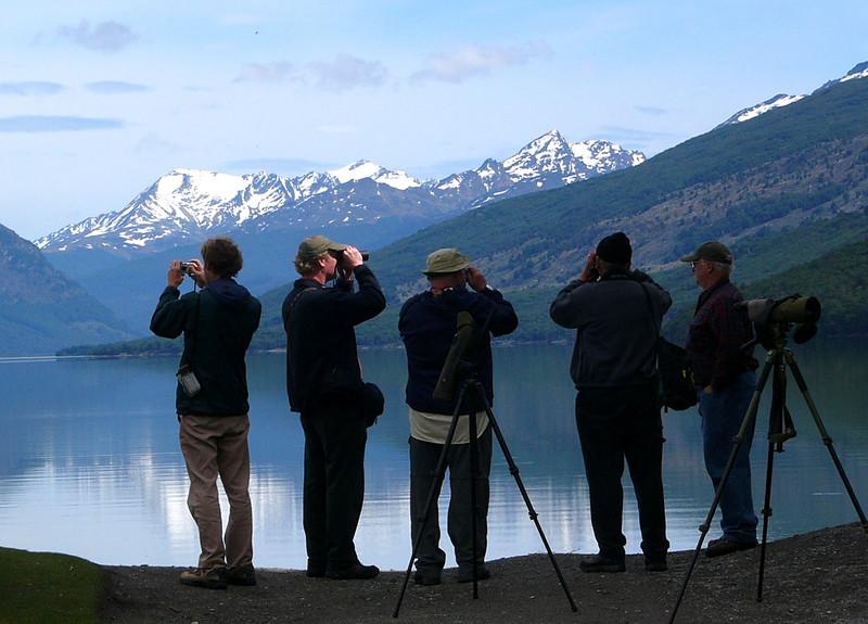"Birding on Tierra del Fuego. <div id=""caption_tourlink"" align=""right""> [photo © participant Marge Barrett]</div>"