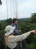 "Atop the canopy walkway <div id=""caption_tourlink"" align=""right""> [photo © guide Jan Pierson]</div>"