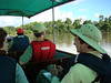 "Heading from the town of Coca along the Napo river toward the lodge<div id=""caption_tourlink"" align=""right""> [photo © Mitch Lysinger]</div>"
