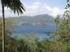The view from Little Tobago back toward Tobago (Photo by guide Eric Hynes)