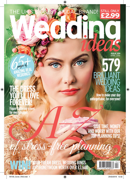 Cover story for Wedding Ideas Magazine